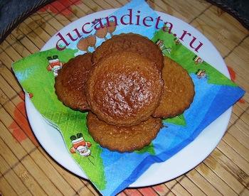 овсяное печенье с отрубями по Дюкану