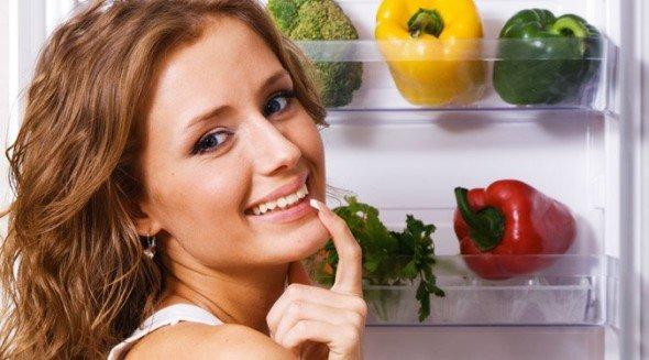 девушка считает калории