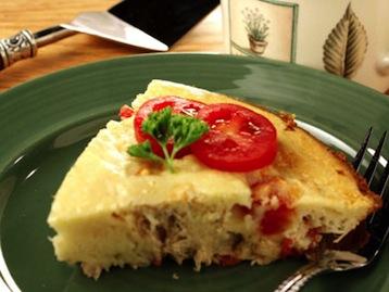 Пирог с томатом и тунцом рецепт
