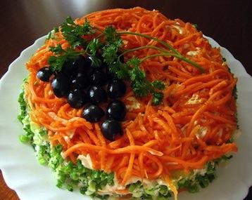 слоеный салат по Дюкану
