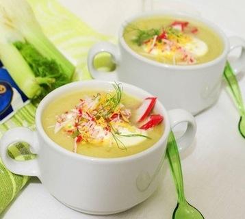суп с крабовой лапшой