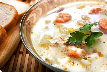 суп с морепродуктами по Дюкану