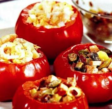 помидоры фаршированные грибами рецепт