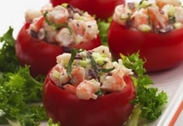 помидоры фаршированные креветками рецепт