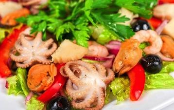 салат с морепродуктами по Дюкану