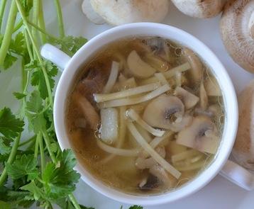 Грибной суп с лапшой и шампиньонами