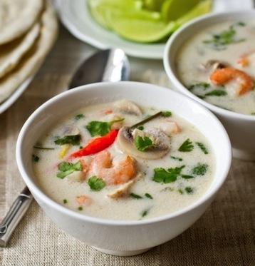 грибной суп с креветками и шампиньонами