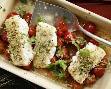 рыбное филе с помидорами по Дюкану