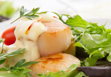 салат с морскими гребешками по дюкану