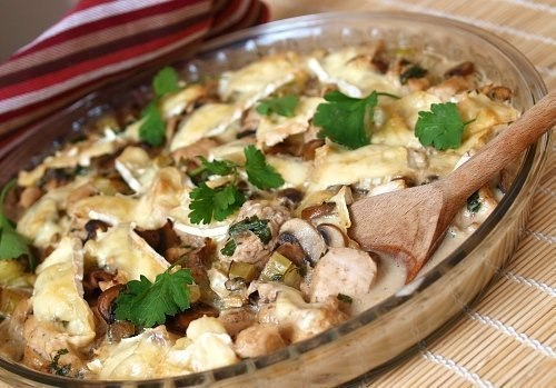 Курица с грибами в сливочном соусе по Дюкану