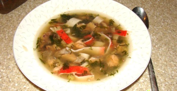 Суп-с-крабовой-лапшой