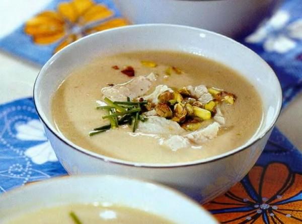 рецепт суп пюре из курицы с шампиньонами