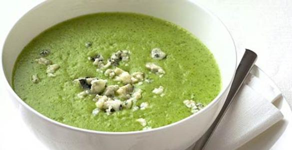 Холодный легкий суп из брокколи